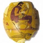 La lira e il delfino, ceramica
